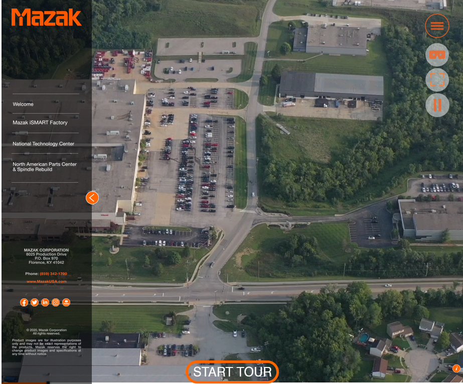 Mazak Brings Our Factory to You With the 360° Virtual Campus Tour
